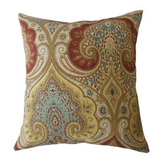 "Saeran Damask Throw Pillow, Multi, 20""x20"""