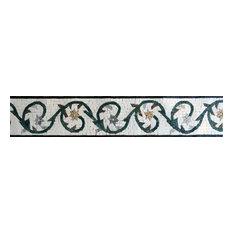 """Mosaic Border -Amaryllis, 6""""x12"""""""