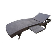 Oakland Living Elite Resin Patio Wicker Chaise Lounge, Coffee
