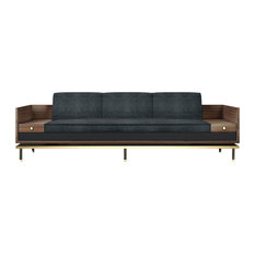 Asheville Leather Sofa With Drawers