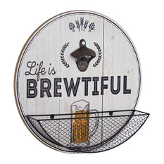 Life is Brewtiful Bottle Opener and Cap Catcher