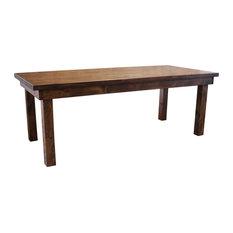 Farmhouse Table Solid Hardwood Tobacco Finish 132-inchx42-inchx30-inch