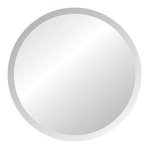 "Frameless Mirror with Polished Beveled Edges, 42"" Round"