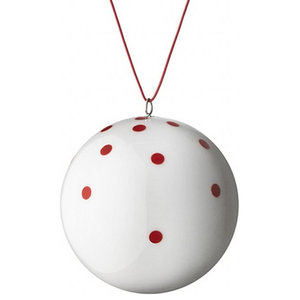 Anne Black Xmas Ball Ornament, Red, Large