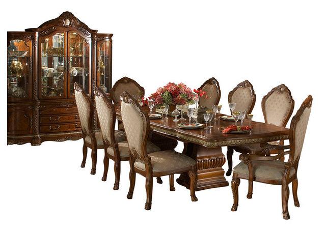 10Piece Cortina Rectangular Dining Room Table Set With China