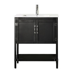 black vanity with sink. Legion Furniture  Wood Sink Vanity With Ceramic Top 30 Black Bathroom Vanities Houzz