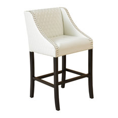 Gdf Studio Filton Quilted Leather Counter Stool Ivory