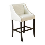 Filton Quilted Leather Counter Stool, Ivory