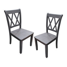 Luxembourg Farmhouse Dining Side Chairs Set Of 2 Rustic Gray