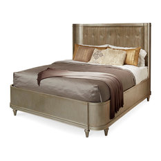 A.R.T. Home Furnishings Morrissey King Lloyd Upholstered Shelter Bed, Bezel