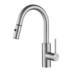 KRAUS Oletto Single Handle Pull Down Faucet, Chrome Finish