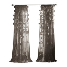 Riley Window Curtain Single Panel, Gray