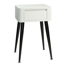 4d concepts black and white side table with tall legs side tables and end
