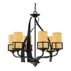 Onyx chandeliers houzz quoizel kyle 6 light 28w chandelier imperial bronze with onyx pillar candle aloadofball
