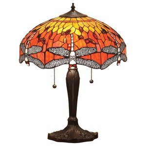 Dragonfly 60 W Table Lamp, Flame, Medium