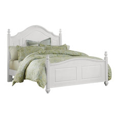 All-American French Market Queen Poster Bed, Soft White