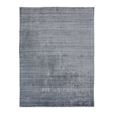 MERIDIAN Zinc Hand Made Wool and Silkette Area Rug, Gray, 12'x15'