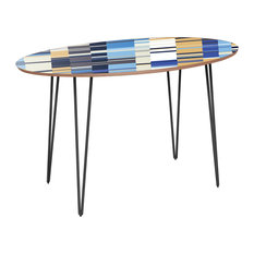 Ondine Hairpin Dining Table - Blue Stream