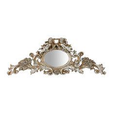 Cherub Antique Style Wall Mirror, Silver, 50x20 cm