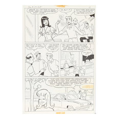 "Samm ""Jughead"" Schwartz, Jughead ""Strings Attached"" #197 pg 2, Ink Drawing"