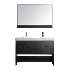 """47"""" Modern Double Sink Bathroom Vanity"""