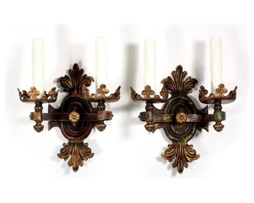 Antique Gothic Revival Lighting - Wall Sconces  sc 1 st  Houzz & Antique Gothic Revival Lighting azcodes.com