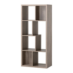 HOMESTAR NORTH AMERICA LLC - Homestar 7 Compartment Shelving Console, Reclaimed Wood - Bookcases