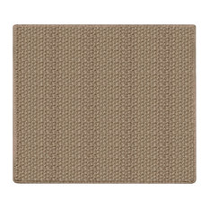 Nugget Indoor/Outdoor Carpet, Soft Textured Loop Rugs, Ivory, Square 11'x11'