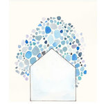 """Adri Luna Studio - Abstract Watercolor Print, Blue,16""""x20"""" - This modern abstract watercolor print comes unframed and will be a lovely piece of home decor  or the perfect housewarming gift. It's a great way to add personality to your home or office."""