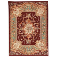 "Pasargad Aubusson Hand-Woven New Zealand Wool Area Rug, 10'2""x13'10"""