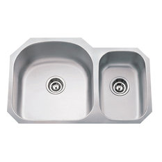 18 Gauge 70/30 Undermount Sink Larger Left Bowl 807L
