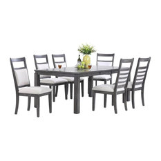 Sunset Trading - Shades of Gray 7-Piece Dining Set - Dining Sets