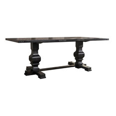 ACME Morland Trestle Dining Table in Vintage Black