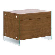 IL Vetro Walnut Veneer Nightstand/End Table