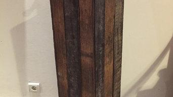Scelette en bois recyclé