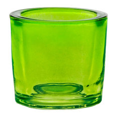 2.5 oz Heavy Glass Votive Candle Holder, Lime Green