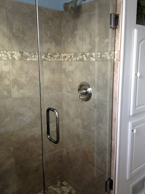 Semi Frameless Shower Leaks Curb Is Out Of Level And Outsloping