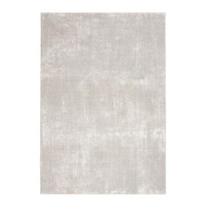 """Nourison Silky Textures Sly01 Rug, Ivory/Gray, 9'3""""x12'9"""""""