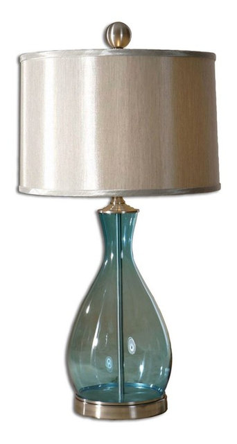 Meena Blue Glass Table Lamp By Uttermost