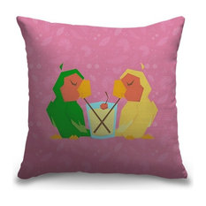"""Two Beaks, One Drink"" Pillow 20""x20"""