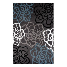 Alpine Abstract Modern Floral Area Rugs, 3'x5'
