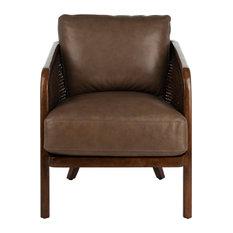 Studio Seven Caruso Barrel Back Chair, Dark Brown