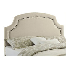 Linon Regency Full/Queen Upholstered Headboard In Natural Beige