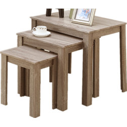 Great Farmhouse Coffee Table Sets Rustic Wood End Tables Light Oak Set of