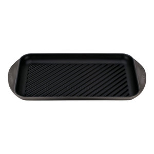 Le Creuset Enameled Cast Iron Extra Large Double Burner Grill Pan, Oyster