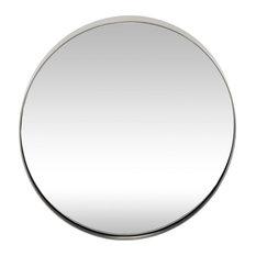 Hübsch Round Metal Mirror in Silver Finish