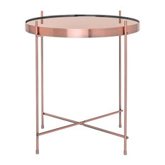 50 most popular contemporary side tables for 2018 houzz uk bo living oakland modern round lamp table rose gold side tables end aloadofball Images