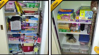 De-cluttered Kids Closet