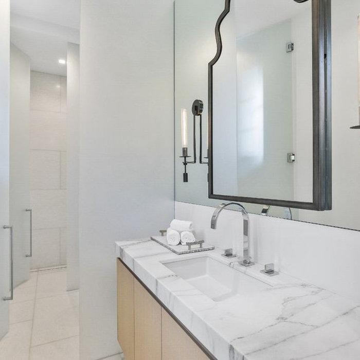 Bathroom - modern bathroom idea in Baltimore