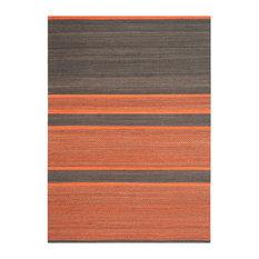 Safavieh Kilim Collection KLM952 Rug, Dark Grey/Orange, 5' X 8'